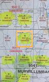 Canungra 25k topo map