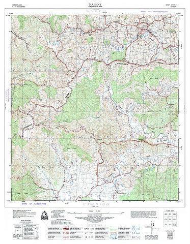 Maleny 25k topo map