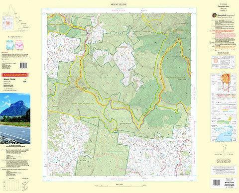 Mount Clunie 25k Topo Map