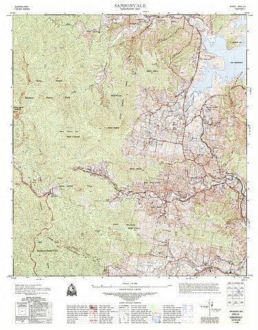 Samsonvale 25k Topo Map