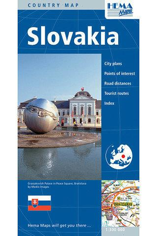 Slovakia Folded Map