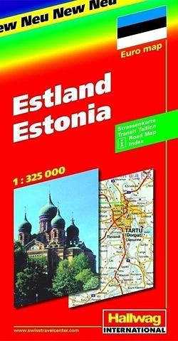 Estonia - Folded Map