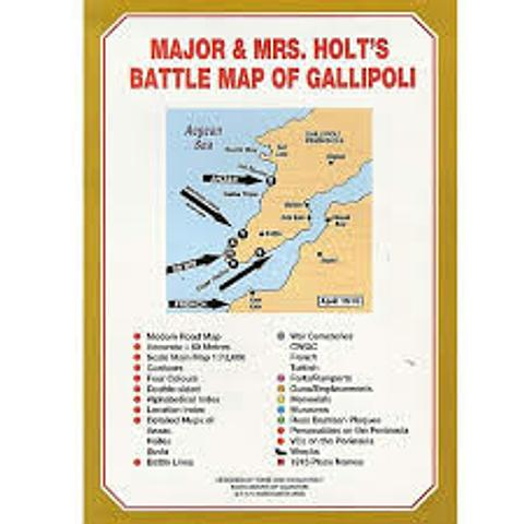 Turkey - Gallipoli - Battle Map - Major & Mrs Holt\'s