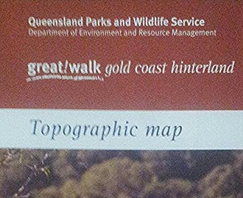 Gold Coast Hinterland Great Walks Map