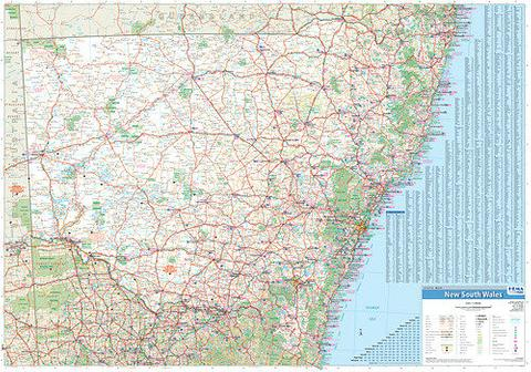 NSW State Wall Map 1000x700mm