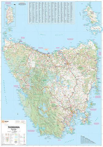Tasmania State Map - Hema - 1000x700mm