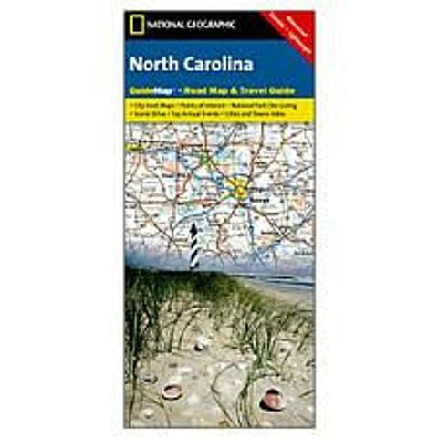 North Carolina Road Map and Travel Guide by National Geographic