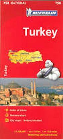 Turkey - Michelin Folded Map