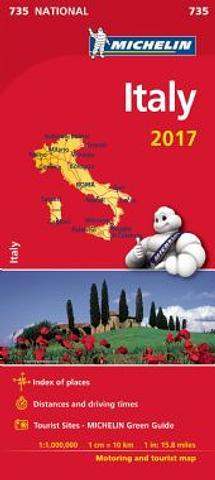 Italy - Folded Map - Michelin