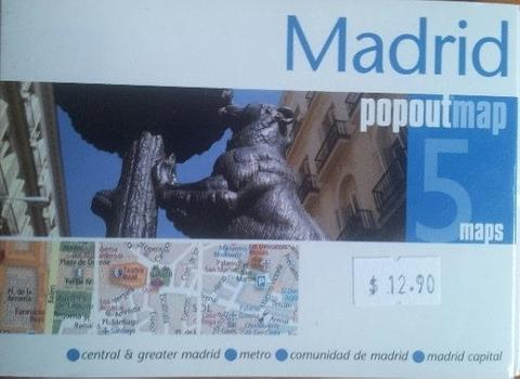 Madrid City Map - Pop Out