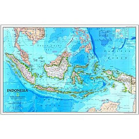 Indonesia Wall Map - 790 mm x 520 mm