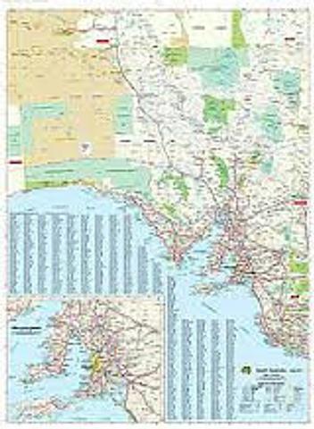 South Australia Wall Map