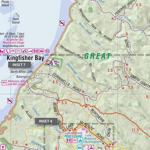 Fraser Island - folded map