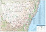 New South Wales - folded map