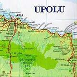 Samoa - folded map