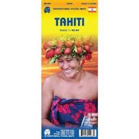 Tahiti - folded map