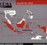 Indonesia and Malaysia - folded map