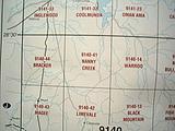 Nanny Creek - 25k topo - 9140-41