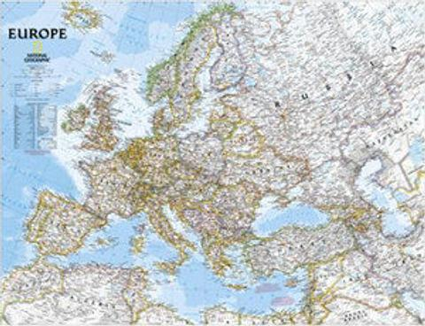 Europe Wall Map - 770mm x 610mm - National Geographic