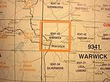 Warwick - 25k topo
