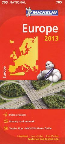 Europe - Folded Map