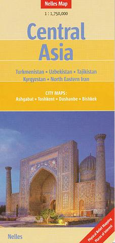 Central Asia - folded map