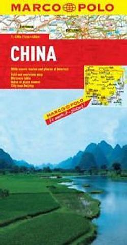 China - folded map