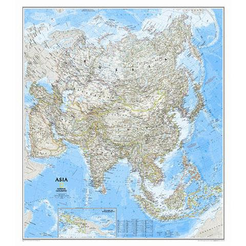 Asia Wall Map - by National Geographic 965mm x 845mm
