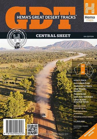 Great Desert Tracks - Central Sheet
