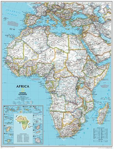 Africa Wall Map by National Geographic 780mm x 610mm