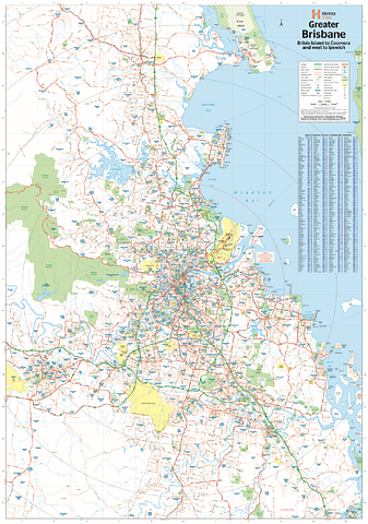 Brisbane & Region Supermap - Wall Map