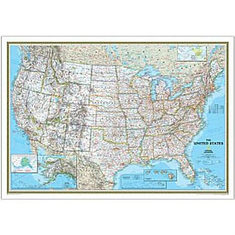USA Wall Map by National Geographic - 1760mm x 1220mm