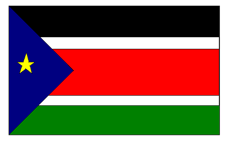 South Sudan Flag - 1800mm x 900mm