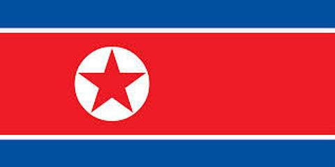 North Korea Flag - 1800 mm x 900 mm