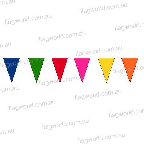 Bunting - Multi coloured pennants -