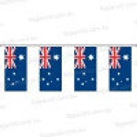 Australian Flag Bunting - 10 m - multiple flags