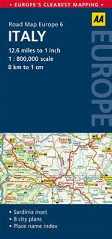 Italy - Road Map by AA