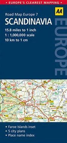 Scandinavia - AA Road Map