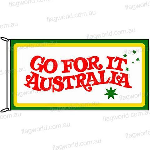 Go For It Australia - Flag - 1800 x 900 mm