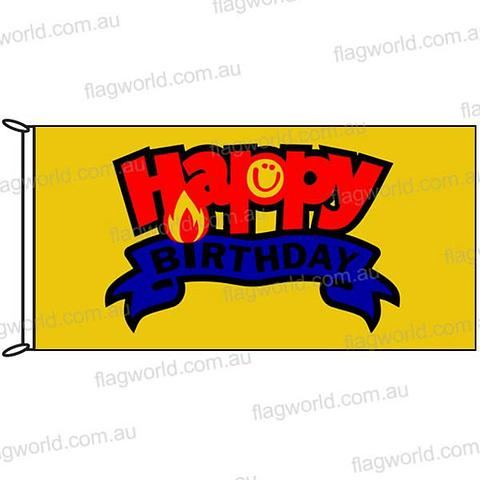 Happy Birthday Flag - 1800 x 900 mm