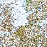 Europe Wall Map - 1170mm x 915mm - National Geographic - $59.95 -