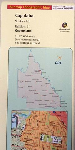Capalaba 25k Topo Map