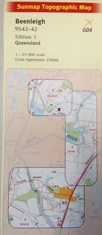 Beenleigh 25k topo map