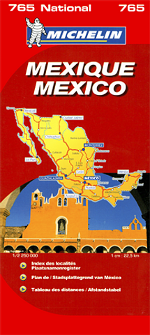 Mexico - Folded Map by Michelin