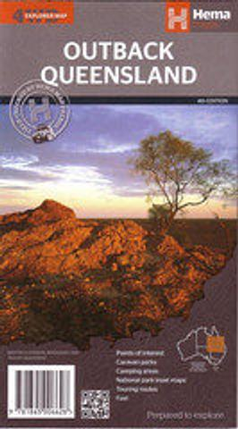 Outback Queensland - folded map