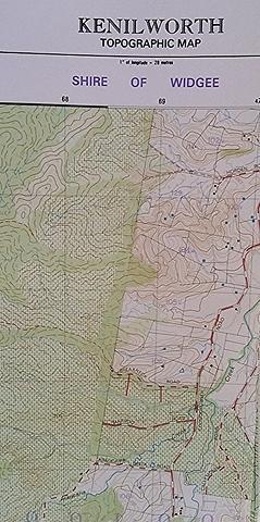 Kenilworth - 1:25k topo map