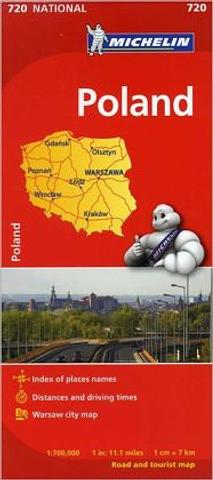 Poland - folded map by Michelin