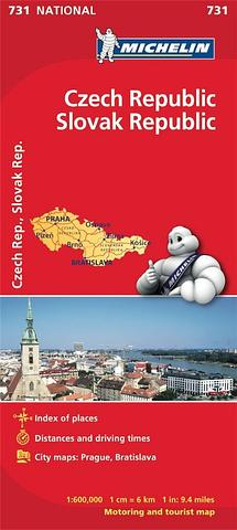 Czech Republic Slovak Republic - folded map by Michelin