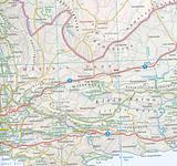 South Africa, Namibia, Botswana - folded map