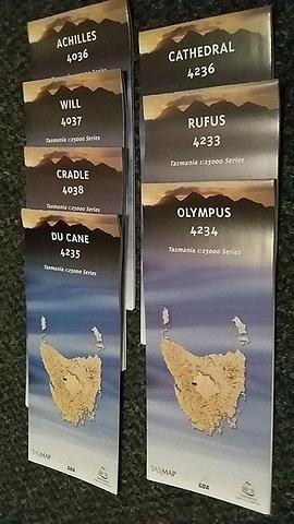 Tasmania Overland Track Map Pack